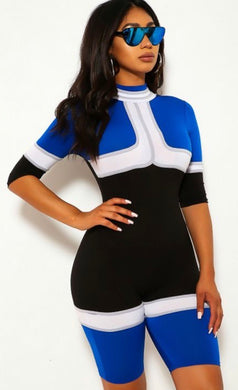 Go Racer Jumpsuit - Blue - Foxy And Beautiful