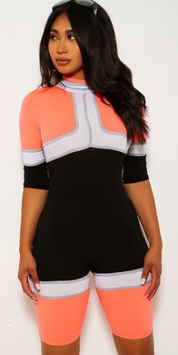 Go Racer Jumpsuit - Orange - Foxy And Beautiful