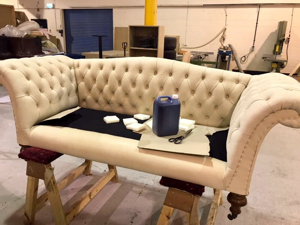 Antique Sofa Restoration - William IV Chesterfield Sofa