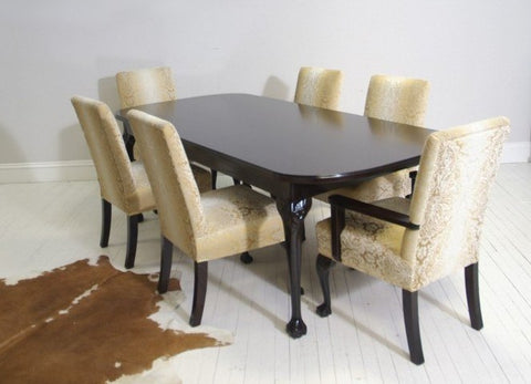 Dining Table With Antique Chairs