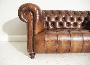 quality chesterfield sofa in leather