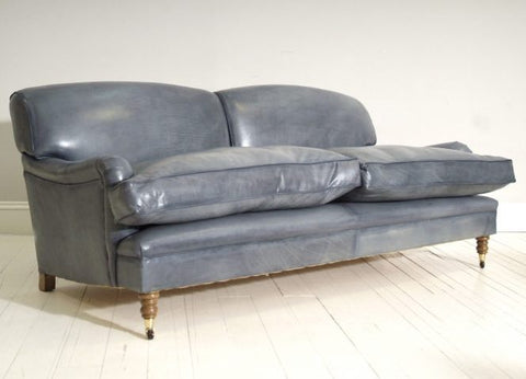 Grey Leather Chesterfield Front