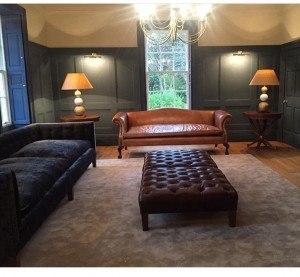 Chesterfield Sofa And Footstool