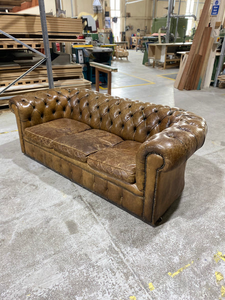 A Very Good MidC Chesterfield in Original Leather
