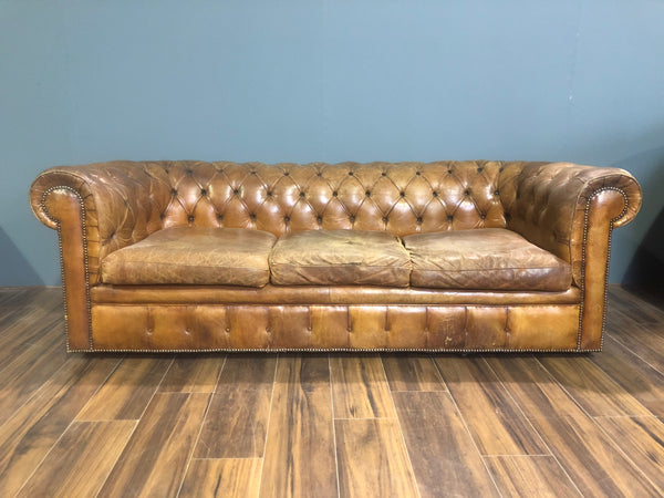 A Very Good MidC Vintage Leather Sofa