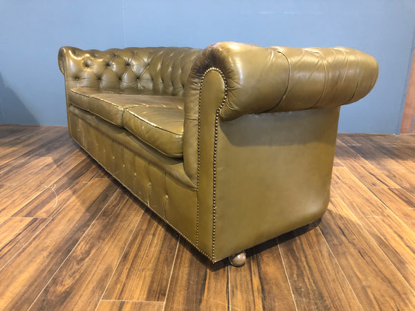Very Good Vintage MidC Sofa - Khaki Green in Great Order