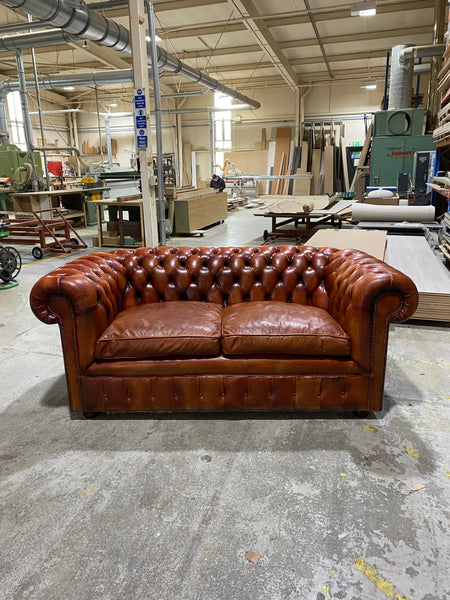A Handsome Hand Dyed Chesterfield Sofa