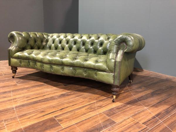 A Fine Pair Of Our Maria Chesterfield Sofas In Hand Dyed