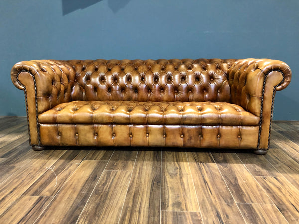 Very Nice Fully Restored MidC Sofa in Hand Dyed Honey
