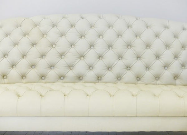 ROCKINGHAM CHIPPENDALE SOFA : UNDYED LEATHER