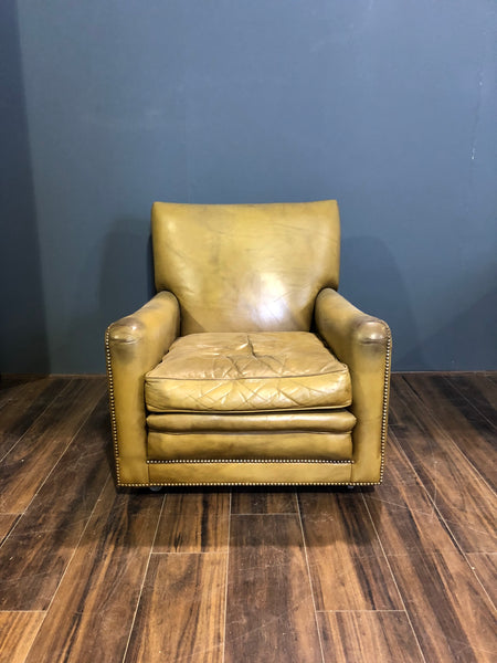 A Super Great Vintage Leather Armchair