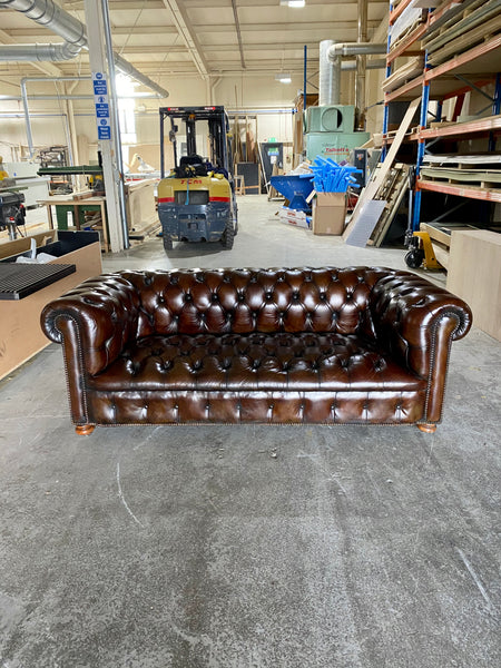 A Delicious Deep & Rich Brown MidC Chesterfield in Amazing Condition