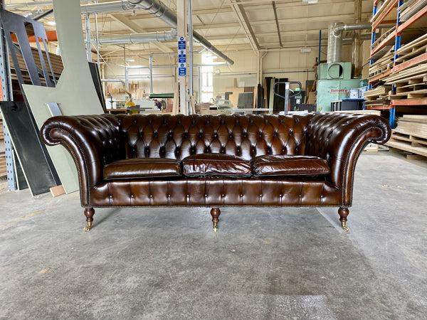 A Very Elegant Vintage Chesterfield Sofa that has been re-dyed