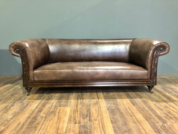 LATE 19TH CENTURY CHESTERFIELD SOFA FULLY RESTORED