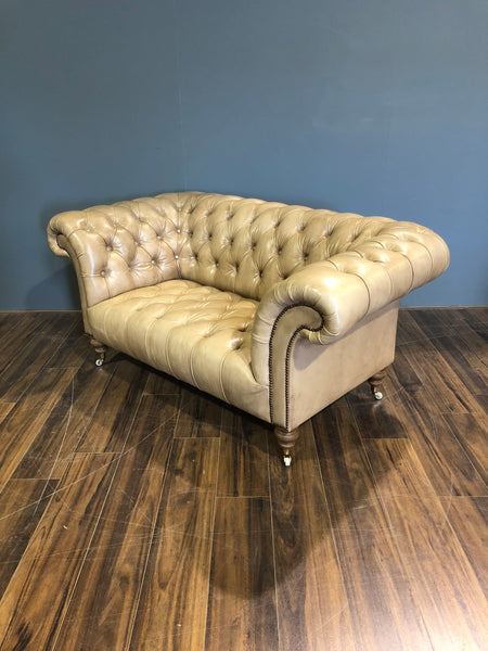 Newcastle Chesterfield - 2 Seater in Hand Dyed Parchment