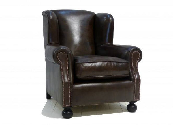 THE PEEL ARMCHAIR: HAND DYED DEEP BROWN