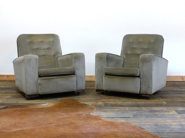 SUPERB PAIR OF MID-CENTURY ART DECO CHAIRS