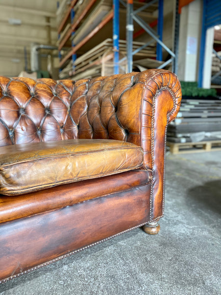 Vintage Chesterfield Sofa in the Most Beautiful Patinated Leathers