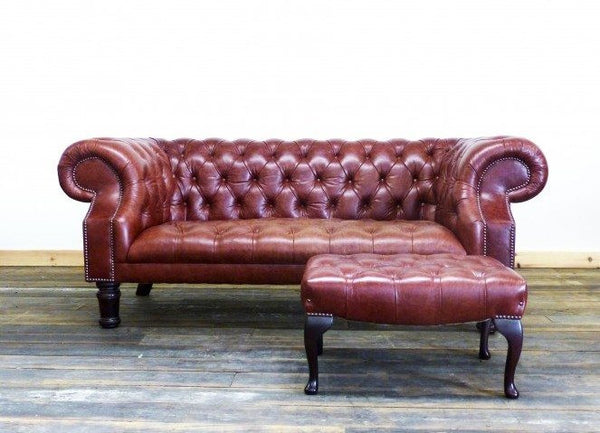 THE DEVONSHIRE SOFA : CHESTNUT RED