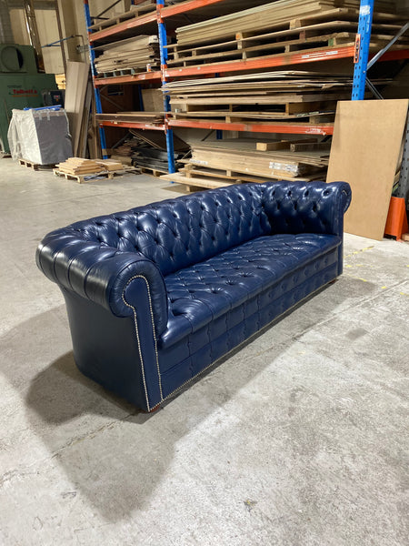 Wow!  An amazing Ocean Blue MidC Chesterfield Sofa
