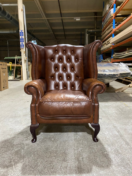 A great Milk Chocolate Brown Chesterfield Wing Chair