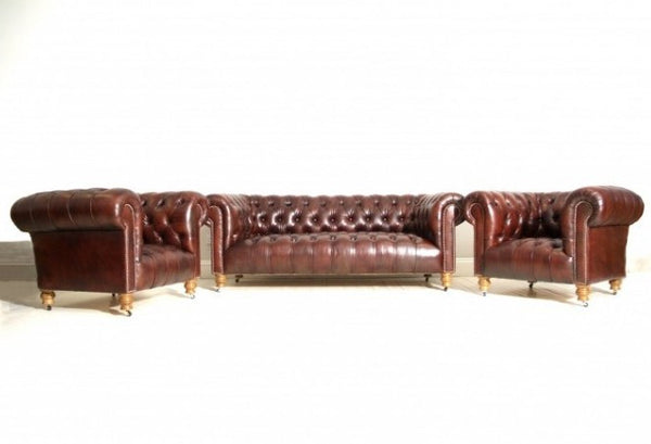 THE MILENA CHESTERFIELD SUITE : RICH WALNUT
