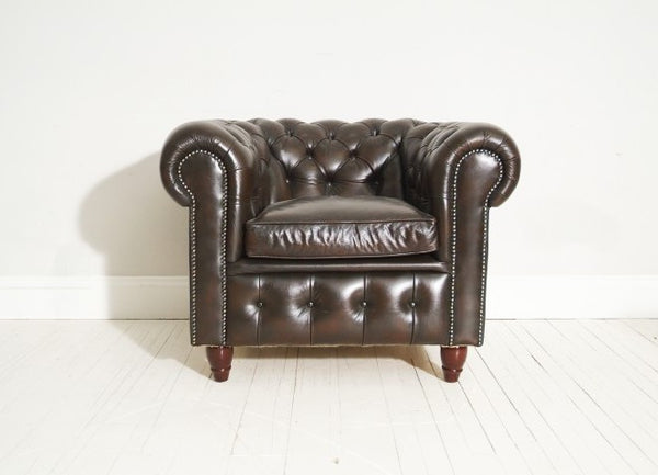 STUNNING PRELOVED CHESTERFIELD CLUB CHAIR