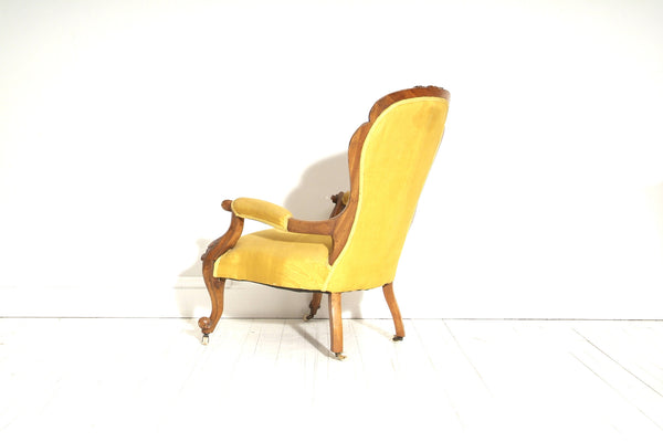 Side View Of Antique Chair