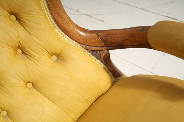 Buttoned Antique Chair