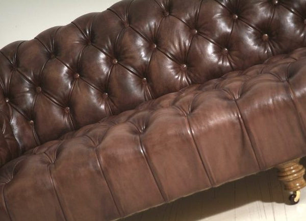 MILENA CHESTERFIELD SOFA : RICH OAK