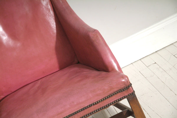 Seat of Pink 18th Century Chair