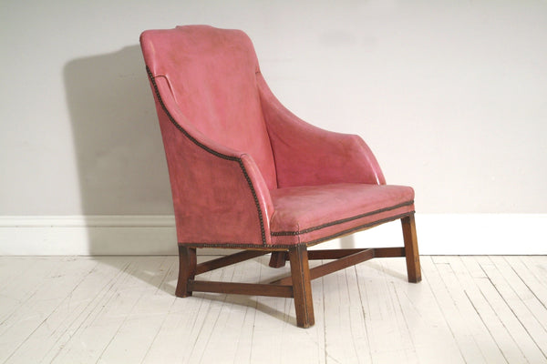 Side view of Pink 18th Century Chair