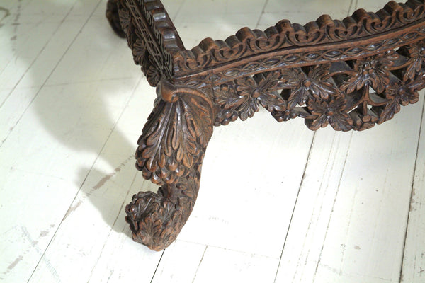 STUNNING CARVED ANTIQUE CHAIR