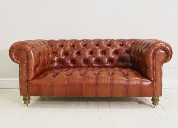 THE MILENA SOFA : HAND DYED RICH TAN