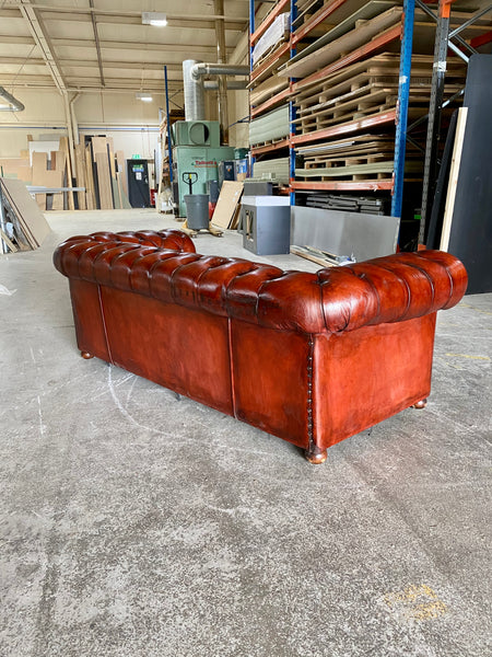 Amazing Vintage MidC Chesterfield in Cognac