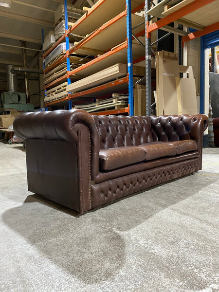 A Super Cool Twice Loved Chesterfield in Chocolate Browns