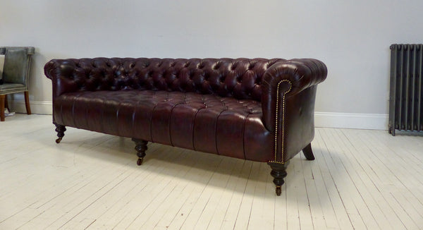 ANTIQUE CHESTERFIELD SOFA, 19TH CENTURY