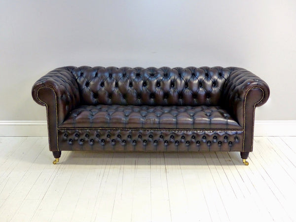 TRADITIONALLY FINISHED FULLY RESTORED SECOND HAND CHESTERFIELD