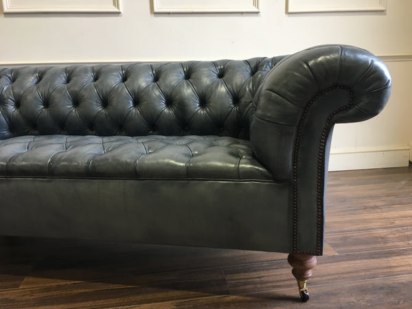 GODERICH CHESTERFIELD SOFA : HAND DYED ELEPHANT GREY