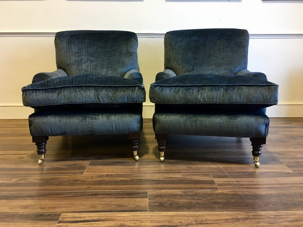 Matching Pair of our North Armchairs in Beaumont & Fletcher fabric