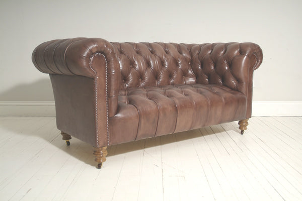 Ex-Display SALE - Milena Leather Chesterfield 2 seater sofa