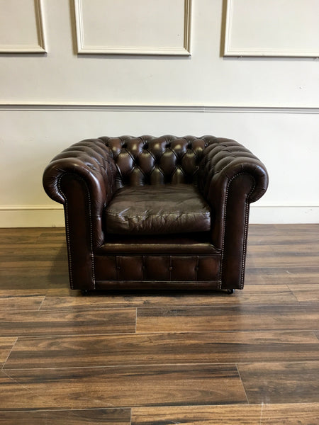 For the Gent - a great Second Hand Leather Chesterfield Club Chair