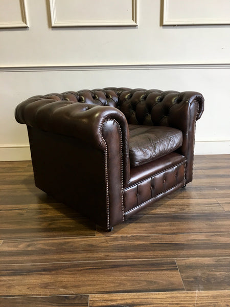 Second Hand Leather Chesterfield Club Chair – Robinson of ...