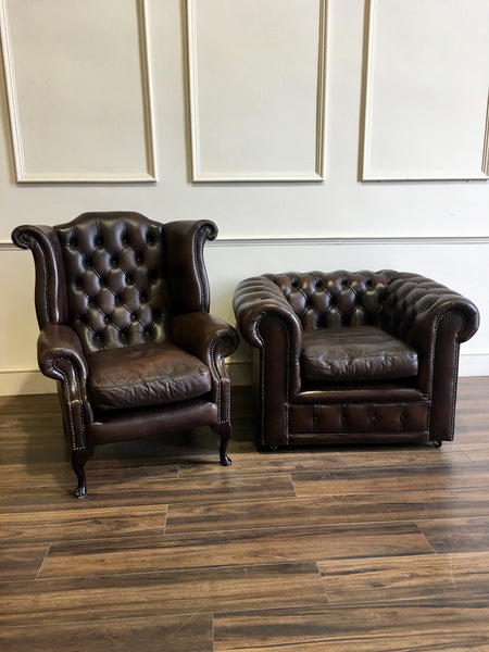 Twice Loved 3 Piece Chesterfield Suite