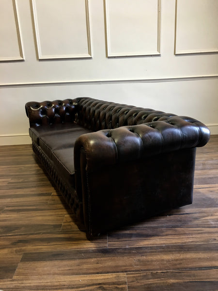 Side view of 4 Seater Chesterfield Sofa