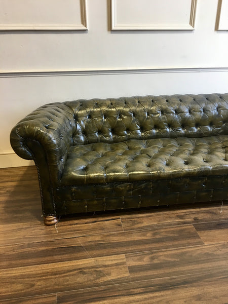A very good Early 20thC Sofa in Original Leather