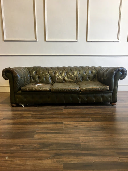 Antique Leather Chesterfield Sofa to be Fully Restored
