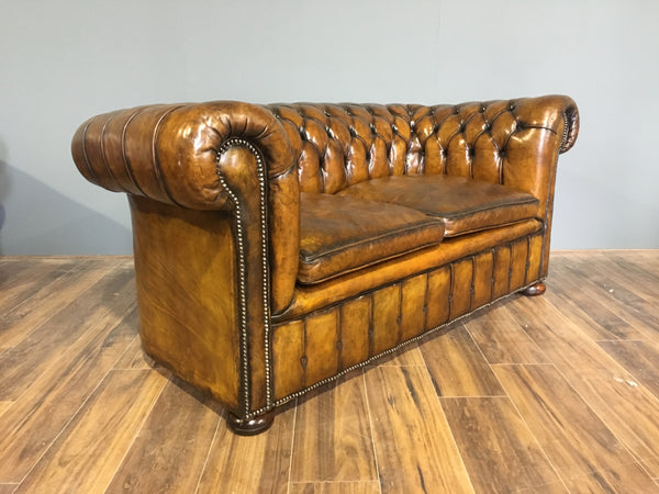 Exceptional Antique Leather Chesterfield Sofa Circa 1920