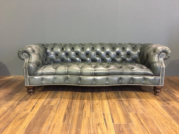 Ex-Display Sale - Maria Chesterfield Sofa in Elephant Grey