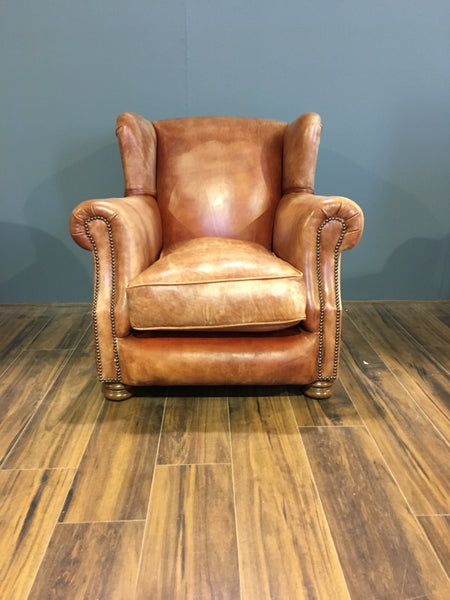 Perfect Vintage Leather Armchair - Our very own Peel Chair
